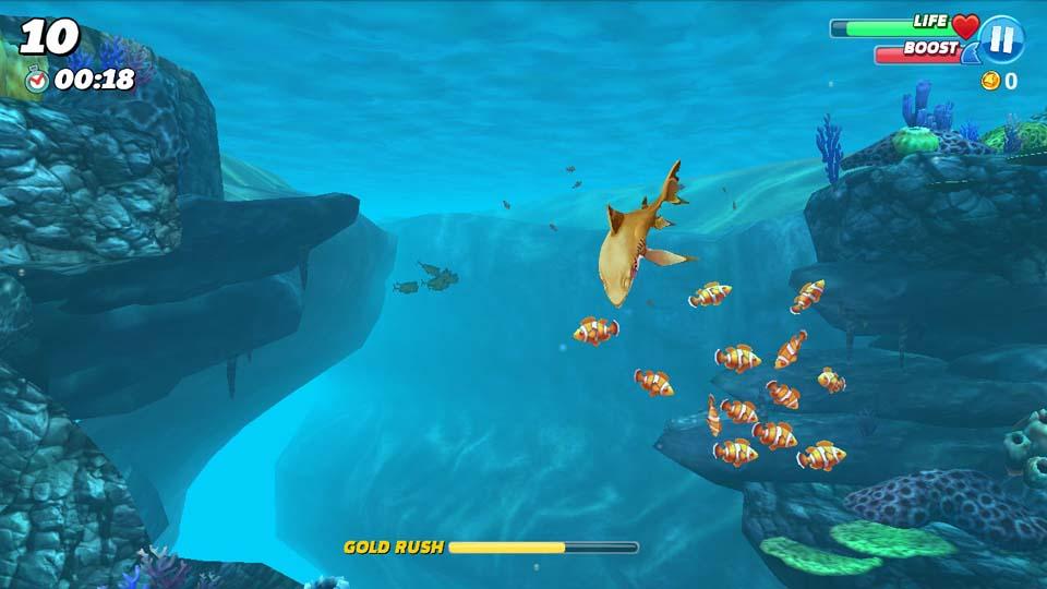 Play Hungry Shark World on PC