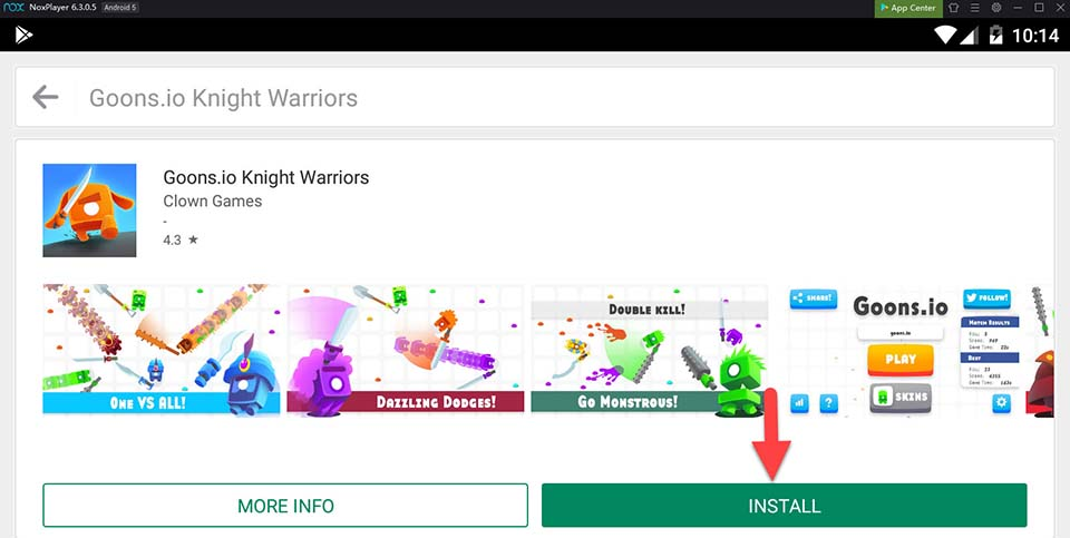 Download and Install Goons.io Knight Warriors For PC (Windows 10/8/7 and Mac)