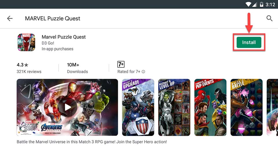 Download and Install MARVEL Puzzle Quest For PC (Windows 10/8/7 and Mac)