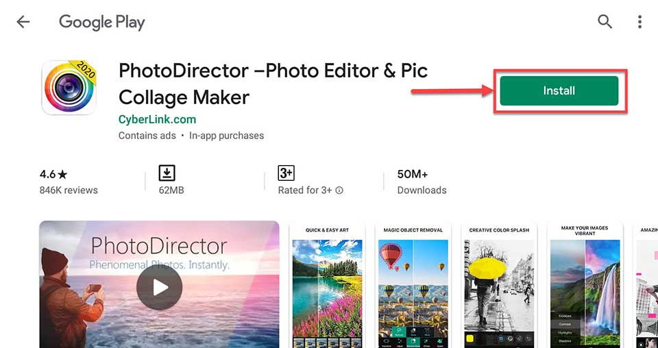Download and Install PhotoDirector For PC (Windows 10/8/7 and Mac)
