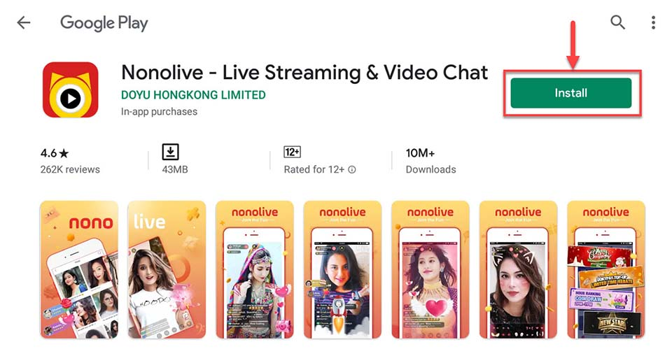 Download and Install Nonolive - Game Live Streaming & Video Chat For PC (Windows 10/8/7)