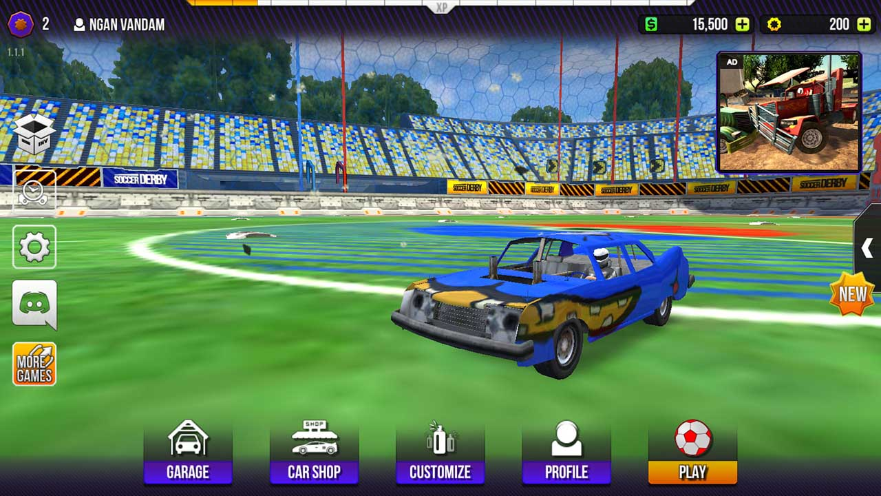Play Rocket Soccer Derby on PC