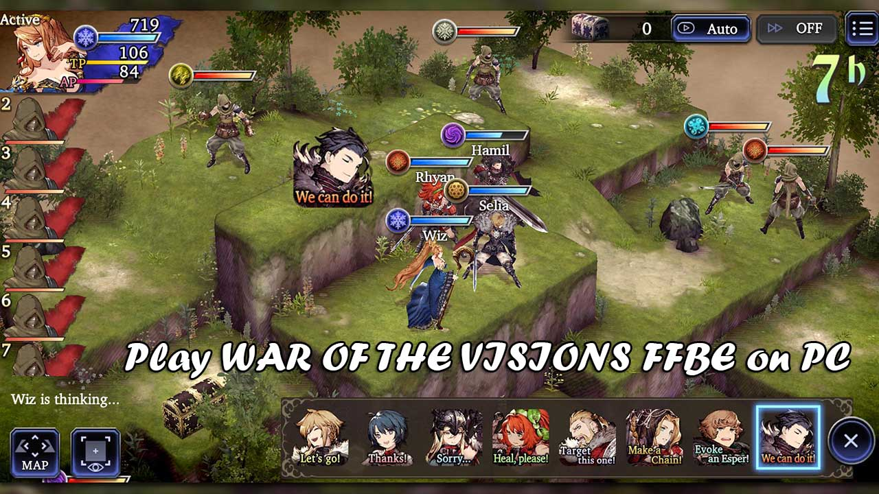 Play WAR OF THE VISIONS FFBE on PC