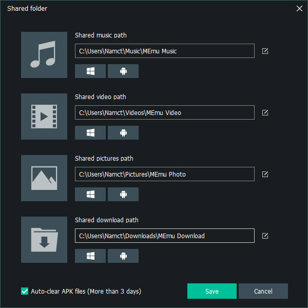 How to Share File between Android and Windows in MEmu App Player